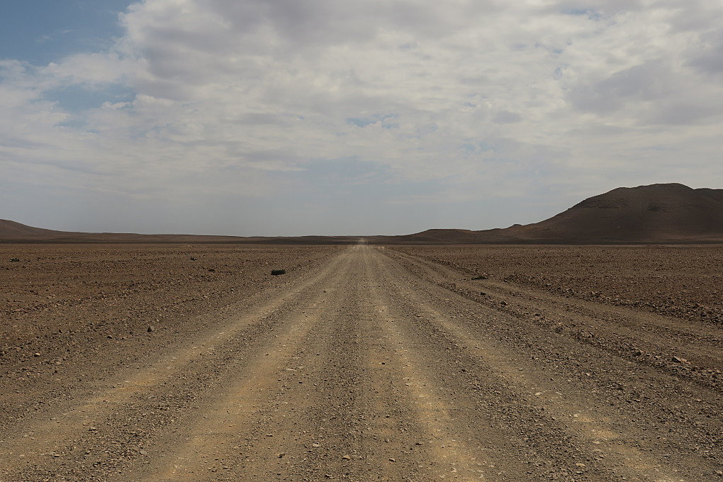 Driving east from Cape Cross to Twyfelfontein, Namibia