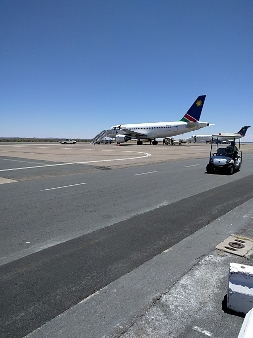Windhoek airport, air namibia
